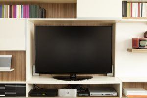 5 things students look for in their accommodation | TV set on wall unit