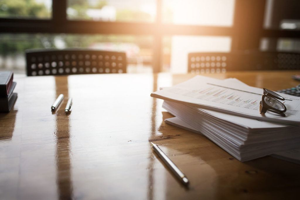 Tighter regulation for the private rental sector - Image of documents on a table