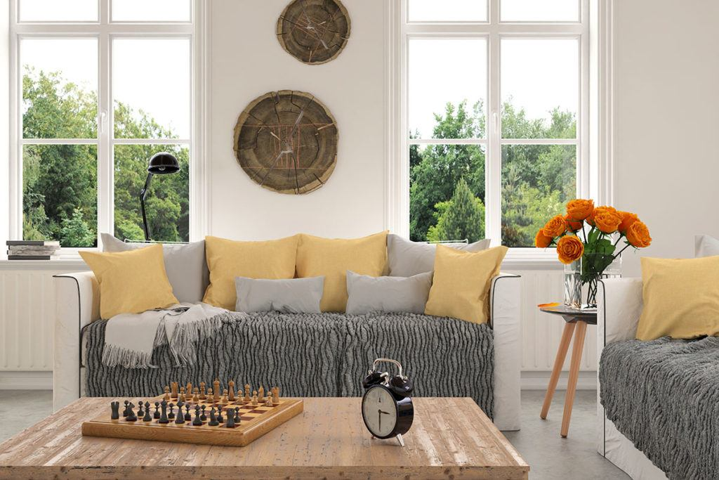 How to inspect your property - Image of a clean and bright living room
