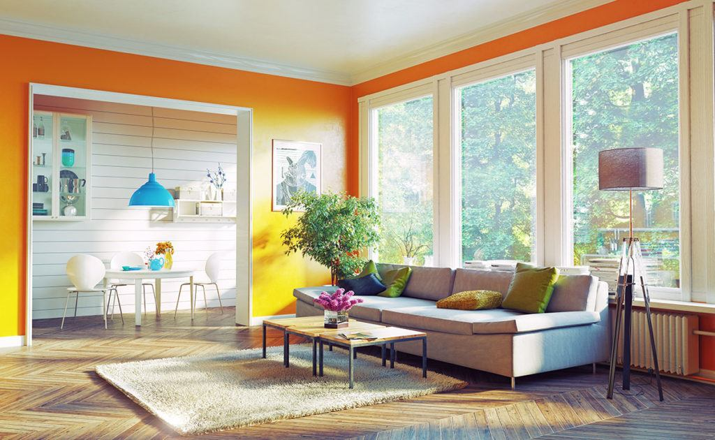 Property maintenance tips for all seasons - Image of a clean and tidy living room