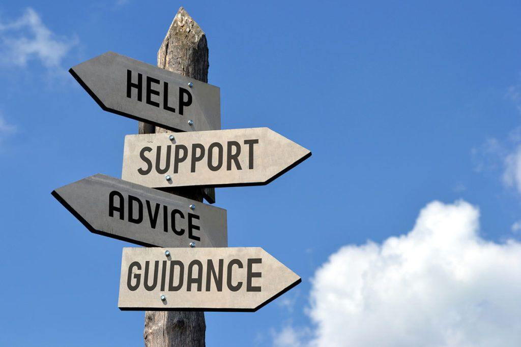 Dealing with troublesome tenants - Image of sign saying 'Help' 'Support' 'Advice and 'Guidance'