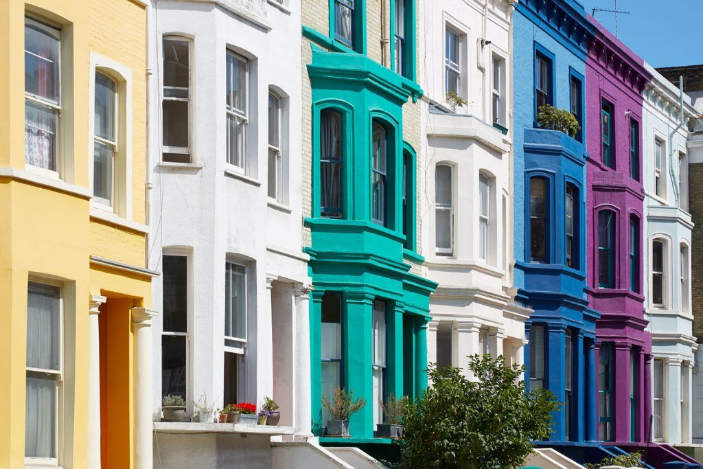 What are professional indemnity errors and omissions? | Colorful english houses facades in London near Portobello road