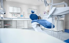 A clean modern well equipped dental surgery prepped and ready to take the first patient of the day