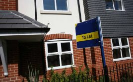 Government releases proposals for longer term tenancies - Image showing a 'To Let' sign in front of a new house