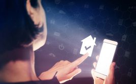 What's the best way to tackle rogue landlords? | phone in hand selecting house that is ticked.