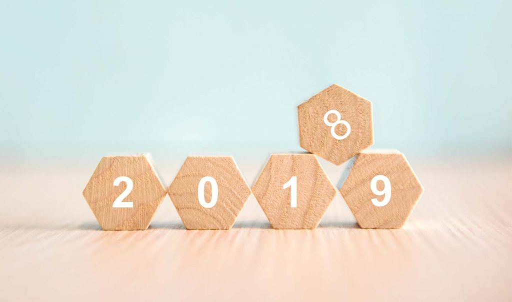 A review of 2018 and preview of 2019 for landlords | 2018 wooden blocks being replaced by 2019