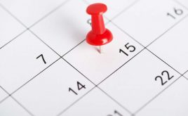 15 key dates for landlords in 2019 | close up calendar with specific day pinpointed