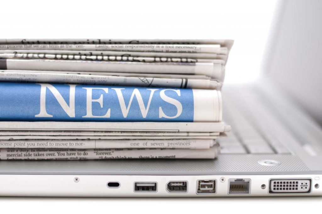 Weekly landlord news digest: 08/02/19 | pile of newspapers with the headline 'News' on top of laptop keyboard