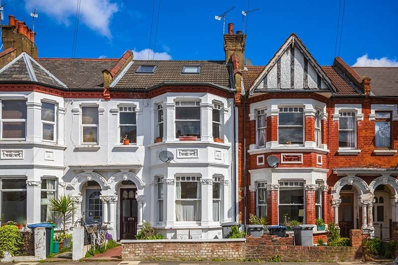 Are you compliant with the Homes (Fitness for Human Habitation Act) 2018? | A row of typical red brick British terraced houses