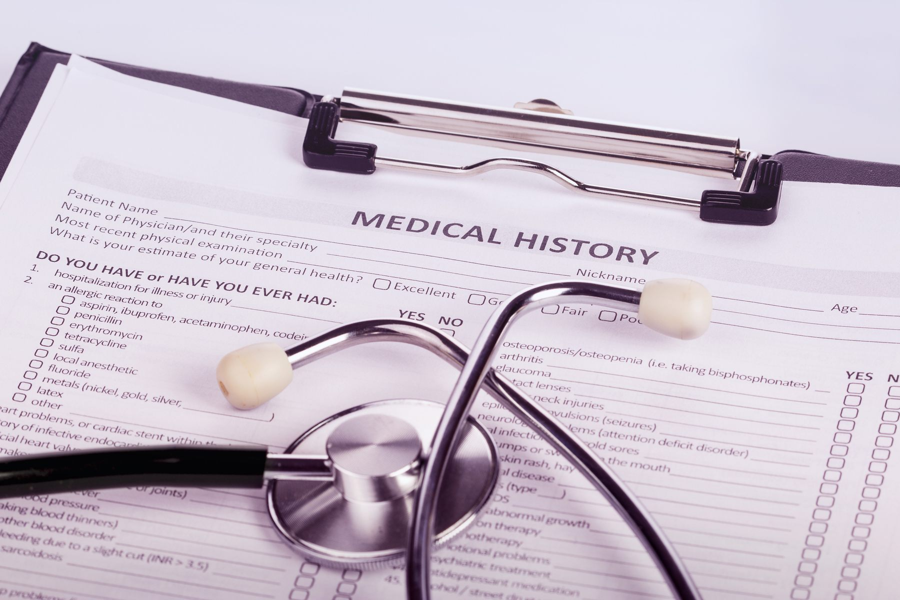 A patient's medical history – what should you include? - Hamilton Fraser