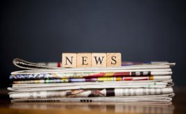 Weekly landlord news digest - issue 11 | stack of newspapers with 'news' written with wooden blocks