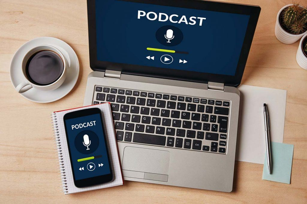 'Taxing times – Decoding property tax in 2019' – Hamilton Fraser's Property Podcast | Podcast playing on a laptop with a mobile infront