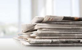 Weekly landlord news digest: Issue 14 | Pile of printed newspapers, close-up view