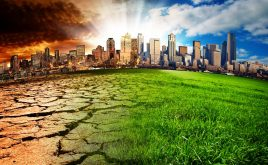 How to protect your properties from the effects of climate change | A city showing the effect of climate change in the future.