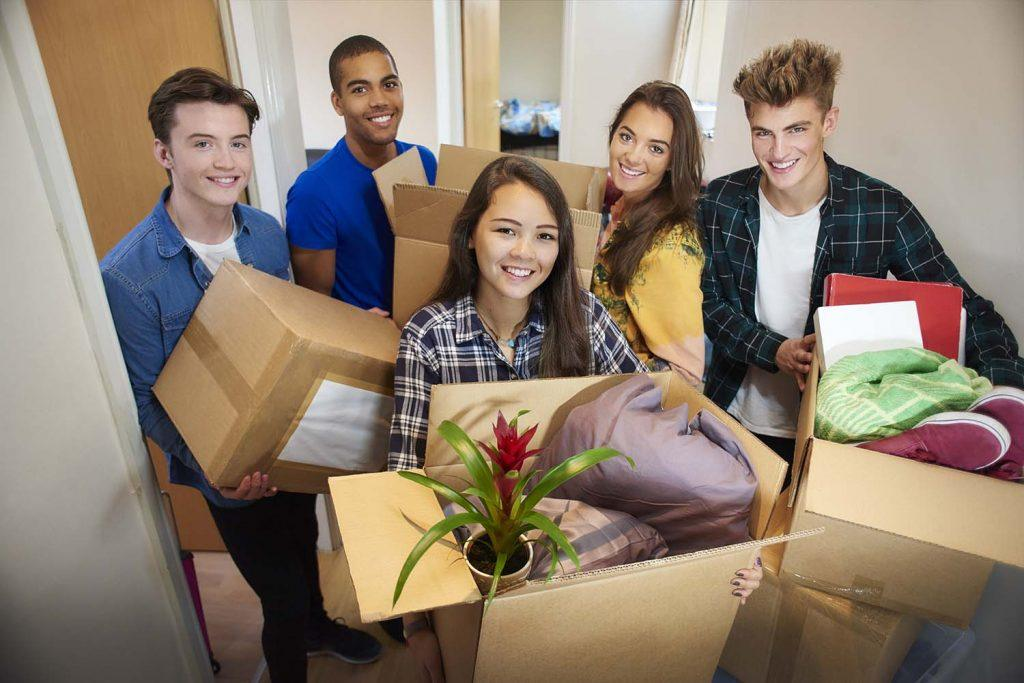 Everything's changing: what students really expect   group of students moving into their accommodation
