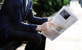 Weekly landlord news digest: Issue 25 | Man sitting outside home reading his newspaper